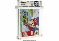 This photo provided by Heritage Auctions shows an unopened copy of Nintendo's Super Mario 64 that has sold at auction for $1.56 million. (Courtesy of Heritage Auctions via AP)