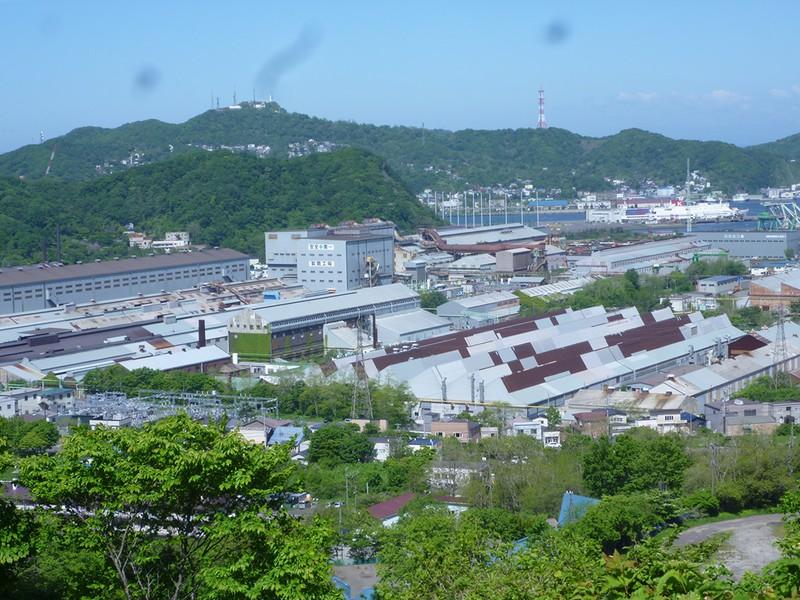 日本製鋼所発祥の地である室蘭製作所(現在は子会社である日本製鋼所M&E)