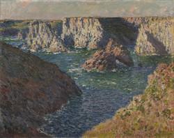 クロード・モネ≪ベリーㇽの岩礁≫ 1886年Inv.907.19.191 ランス美術館