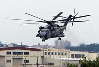 A U.S. military CH-53E helicopter. (Mainichi/Takayasu Endo)