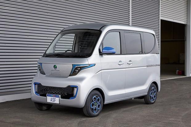 佐川急便のほかにも問い合わせが殺到している中国の柳州五稜が製造するASFの小型商用EVバン(ASF提供)