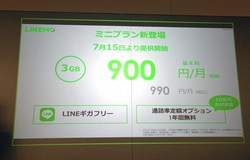 LINEMOの新料金プラン「ミニプラン」は3GBで月990円