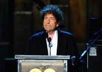 In this Feb. 6, 2015, file photo, Bob Dylan accepts the 2015 MusiCares Person of the Year award at the 2015 MusiCares Person of the Year show in Los Angeles. (Photo by Vince Bucci/Invision/AP)