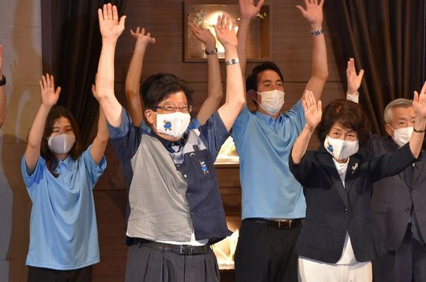 再選を果たした川勝平太静岡県知事