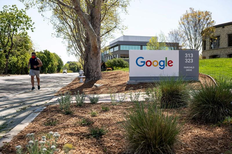 米カリフォルニア州のグーグル本社。国際最低課税は米IT大手も標的とされる Bloomberg