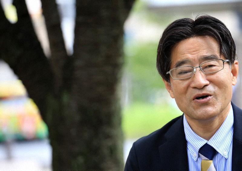 東京五輪について語った小林信也さん=東京都三鷹市で2021年7月13日、梅村直承撮影