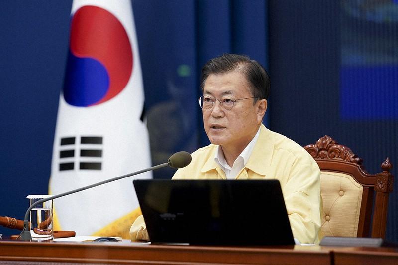 国務会議に出席した文在寅大統領=ソウルで2021年7月20日(韓国青瓦台提供)