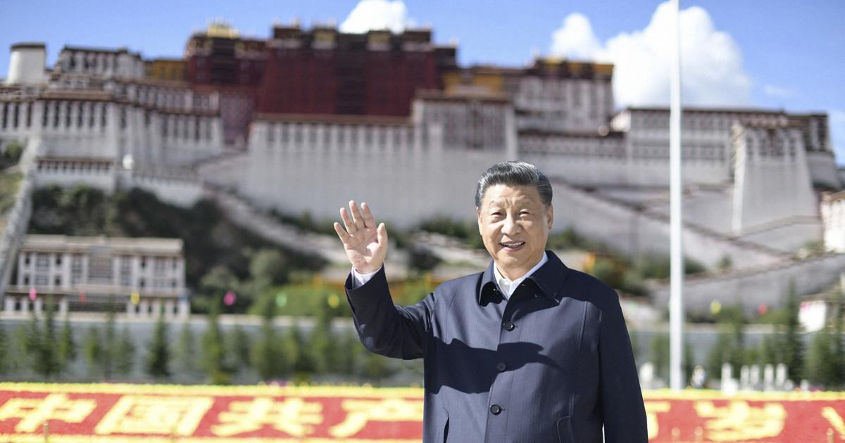 """習氏、チベットを訪問 国家主席就任後初 """"解放""""70年の節目で"""