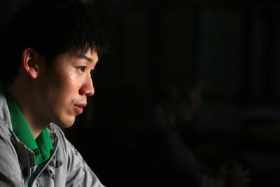 バレーボール男子日本代表の石川祐希=東京都目黒区で2019年4月22日、梅村直承撮影