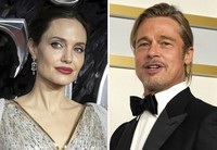 This combined photo shows Angelina Jolie, left, and Brad Pitt. (AP Photo)