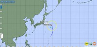 The forecast path of Typhoon Nepartak is shown as of 9 a.m. on July 26, 2021. (Image from the Japan Meteorological Agency website)