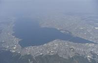 Lake Biwa is seen in this file photo taken from a Mainichi Shimbun helicopter. (Mainichi)