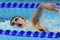 Yui Ohashi, of Japan, swims in a women's 200-meter individual medley semifinal at the Summer Olympics, on July 27, 2021, in Tokyo, Japan. (AP Photo/Petr David Josek)