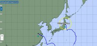 The forecast path of Typhoon Nepartak is shown as of 9 p.m. on July 27, 2021. (Image from the Japan Meteorological Agency website)
