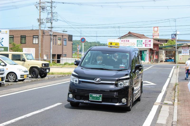 京丹後市で始まった「mobi」の車両 筆者撮影