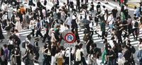 People are seen crossing the famous Scramble intersection in Tokyo's Shibuya area on July 28, 2021. (Mainichi/Yohei Koide)