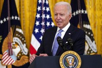 President Joe Biden speaks about COVID-19 vaccine requirements for federal workers in the East Room of the White House in Washington, on July 29, 2021. (AP Photo/Susan Walsh)