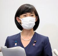 Japan's Olympic and Paralympic minister Tamayo Marukawa (Pool photo)