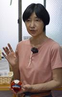 Emi Shinohara, shop manager of Shinohara Furin Honpo, in Tokyo's Edogawa Ward on July 8, 2021. (Mainichi/Akinori Miyamoto)