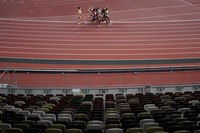 Competitors run in the semifinal of the women's 800-meters at the 2020 Summer Olympics, on July 31, 2021, in Tokyo. (AP Photo/Jae C. Hong)
