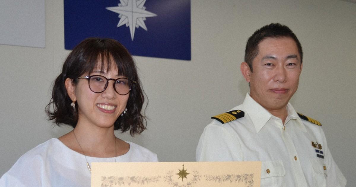 シンクロ経験と勇気 海底の高2を素潜り救助 37歳主婦に感謝状