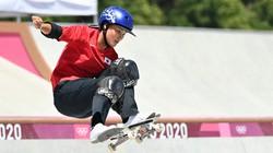 東京五輪でスケートボードは注目された。写真は女子パークで金メダルを取った四十住さくら選手=有明アーバンスポーツパークで2021年8月4日、宮間俊樹撮影