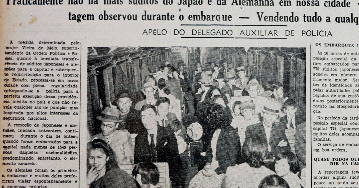Filme mostra a história oculta sobre o deslocamento forçado de imigrantes japoneses durante a Segunda Guerra Mundial, 1943, na cidade de Santos