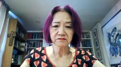 オンラインでインタビューに答える浜矩子さん