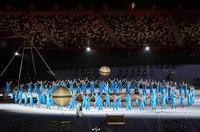 Dancers perform during the opening ceremony of the Summer Paralympic Games at the Japan National Stadium in Tokyo's Shinjuku Ward on Aug. 24, 2021. (Mainichi/Kentaro Ikushima)