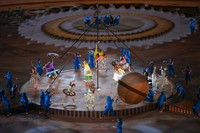 Dancers perform during the opening ceremony of the Summer Paralympic Games, at the Japan National Stadium in Tokyo's Shinjuku Ward on Aug. 24, 2021. (Mainichi/Rei Kubo)
