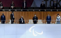 Japan's Emperor Naruhito declares the Summer Paralympic Games open at the Japan National Stadium in Tokyo's Shinjuku Ward on Aug. 24, 2021. (Mainichi/Rei Kubo)