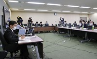 The health ministry's expert panel on vaccines holds a meeting in Tokyo's Chiyoda Ward on March 12, 2021. (Mainichi/Kentaro Ikushima)