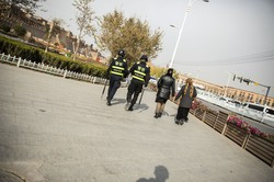 「人権侵害」は国境を超えた国際問題になる(新疆ウイグル自治区カシュガル) (Bloomberg)