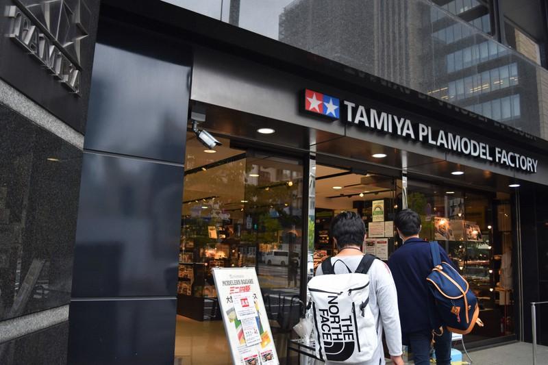 国内最大級のタミヤ製品の品ぞろえを誇るタミヤプラモデルファクトリー新橋店=東京都港区で2021年9月、赤間清広撮影