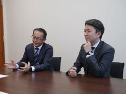 東京海上AMの「ジャパン・オーナーズ」では「創業者の娘婿」にも注目する(左から中川喜久さん、吉田琢さん)