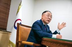 BIG3の成長戦略を打ち出した洪楠基経済副首相 (Bloomberg)