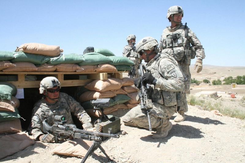 「テロ対策」とアフガニスタンの中央集権型「国づくり」を掲げて約20年を費やし撤退した米軍=アフガニスタン南東部パクティカ州で2009年6月、大治朋子撮影