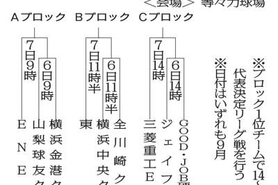 第92回都市対抗野球大会・西関東2次予選の組み合わせ(開幕時点)