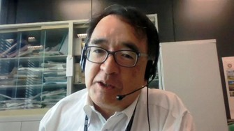 オンラインでインタビューに答える木内登英さん