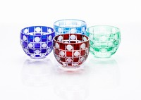 Edo Kiriko cut glassware with