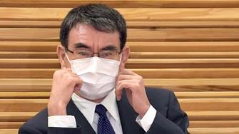自民党総裁選で発言が注目される河野太郎行政改革担当相=首相官邸で2021年9月14日、竹内幹撮影