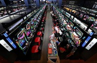 Coronavirus vaccines are administered at a parlor where about 1,000 pachinko and slot machines are lined up, in Osaka's Kita Ward on Sept. 14, 2021. (Mainichi/Naohiro Yamada)