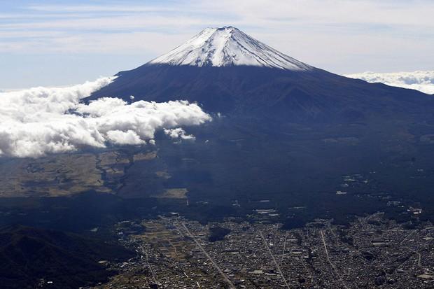 雄大な富士山