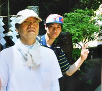 Naoya Ohashi, right, and his father are seen in this photo taken in 2012 when they climbed Mount Takao in the suburban Tokyo City of Hachioji. (Provided by Naoya Ohashi)