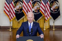 U.S. President Joe Biden delivers remarks on the economy in the East Room of the White House on Sept. 16, 2021, in Washington. (AP Photo/Evan Vucci)