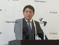 Digital Minister Takuya Hirai is seen during a press conference in Tokyo's Chiyoda Ward on Sept. 10, 2021. (Mainichi/Tsuyoshi Goto)