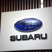 This photo shows the Subaru logo. (Mainichi)