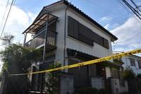 Kimiko Goto's house, where the incident occurred, is seen in the city of Hamura, Tokyo, on Sept. 21, 2021. (Mainichi/Maki Kihara)