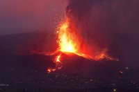 Lava from a volcanic eruption flows on the island of La Palma in the Canaries, Spain, on Sept. 21, 2021. (AP Photo/Emilio Morenatti)