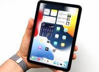 握りやすいサイズ感のiPad mini。ホームボタンがなくなり画面サイズが広がった